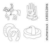 isolated object of horseback... | Shutterstock .eps vector #1430312846
