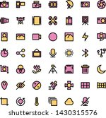 photography icon set with...