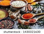 spices and seasonings for... | Shutterstock . vector #1430321630