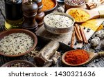 spices and seasonings for... | Shutterstock . vector #1430321636