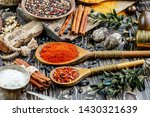 spices and seasonings for... | Shutterstock . vector #1430321639