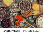 spices and seasonings for... | Shutterstock . vector #1430321660