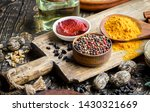 spices and seasonings for... | Shutterstock . vector #1430321669