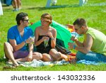 moscow   june 16  people attend ...   Shutterstock . vector #143032336