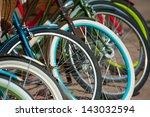 A Lot Of Bike Wheels