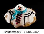 A Melted Snowman Cookie On A...