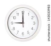 clock face showing nine o'clock ... | Shutterstock . vector #143033983