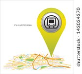 subway  pin pointer on map... | Shutterstock .eps vector #143034370