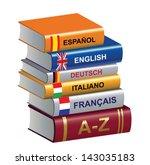 textbooks | Shutterstock .eps vector #143035183