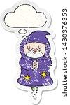 cartoon floating wizard with... | Shutterstock .eps vector #1430376353