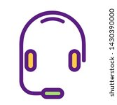 vector headphones icon.... | Shutterstock .eps vector #1430390000