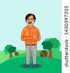 indian villages people cartoon... | Shutterstock .eps vector #1430397203