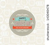 poster happy father's day... | Shutterstock .eps vector #143040478