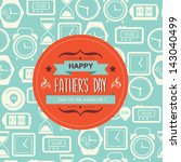 poster happy father's day... | Shutterstock .eps vector #143040499