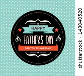 poster happy father's day... | Shutterstock .eps vector #143040520