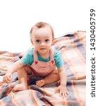 infancy stage. little boy child.... | Shutterstock . vector #1430405759