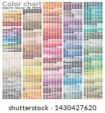 color chart of the fashion ... | Shutterstock .eps vector #1430427620