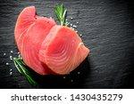 Fresh Raw Tuna Steak With...