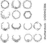 hand drawn wreath bundle set   Shutterstock .eps vector #1430442386
