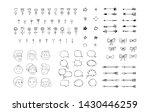 big doodle set of hand draw... | Shutterstock .eps vector #1430446259