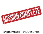 mission complete rubber stamp.... | Shutterstock .eps vector #1430453786