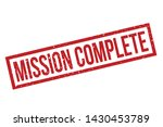 mission complete rubber stamp.... | Shutterstock .eps vector #1430453789
