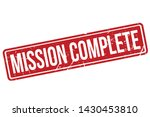 mission complete rubber stamp.... | Shutterstock .eps vector #1430453810