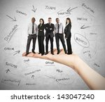 hand holds a successful...   Shutterstock . vector #143047240