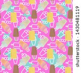 vector black ice cream set... | Shutterstock .eps vector #1430481119