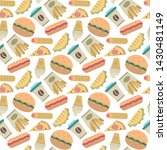 vector fast food ipattern in... | Shutterstock .eps vector #1430481149