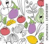 food pattern seamless hand...   Shutterstock . vector #1430485889