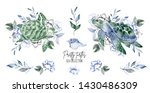 collection of watercolor hand... | Shutterstock . vector #1430486309