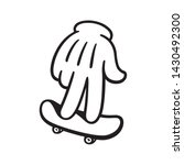 cartoon style hand with... | Shutterstock .eps vector #1430492300