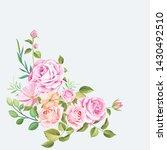 Stock vector floral design bouquet wedding card template 1430492510