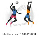 female professional volleyball...   Shutterstock .eps vector #1430497883