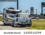 Wrecked Camper Trailer With...