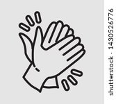 clapping hand icon seen from... | Shutterstock .eps vector #1430526776