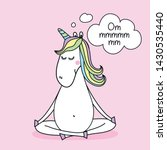 ommmmmm  meditation    funny...   Shutterstock .eps vector #1430535440