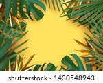 branch palm realistic. leaves... | Shutterstock .eps vector #1430548943