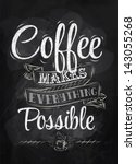 Poster Lettering Coffee Makes...