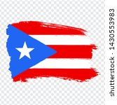 flag of puerto rico  from brush ...