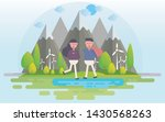 happy valentines day and happy... | Shutterstock .eps vector #1430568263