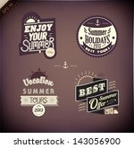 vector elements for summer... | Shutterstock .eps vector #143056900