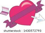 heart pierced by an arrow ... | Shutterstock .eps vector #1430572793