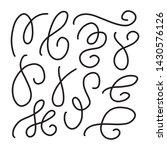 swirls and curves. underlines ... | Shutterstock .eps vector #1430576126