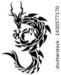 tribal dragon for tattoo.tattoo ... | Shutterstock .eps vector #1430577170