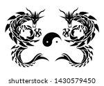 art of two dragons.tribal... | Shutterstock .eps vector #1430579450