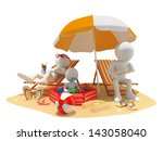 3d white people. family at the... | Shutterstock . vector #143058040