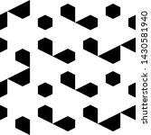 seamless pattern. hexagons ... | Shutterstock .eps vector #1430581940