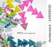 arrow background | Shutterstock .eps vector #143058520